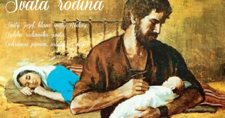 Obrázok – skladačka Modlitby k sv. Jozefovi