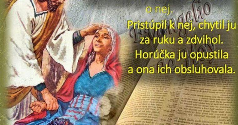 Liturgia domácej cirkvi              5. nedeľa rok B (7.2.)