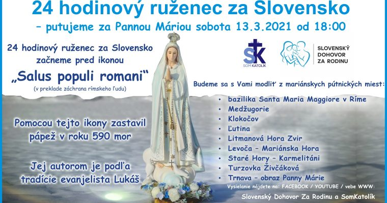 24 hodinový ruženec za Slovensko
